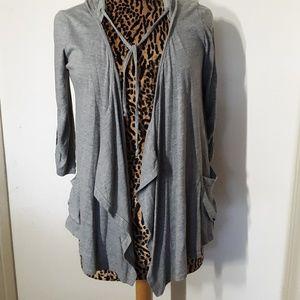 One Clothing Gray Open Cardigan Shirt